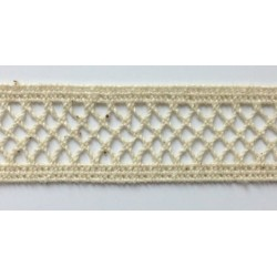 ZY-H0773I (24MM) Cotton Torchon Mesh Lace