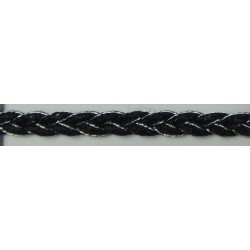 B1057 (Silver&Black)  Metallic Braid Trims
